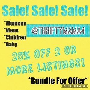 SALE! SALE! SALE! 25% OFF 2 or MORE listings